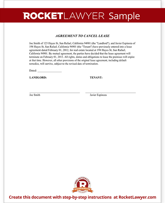 letter to break lease