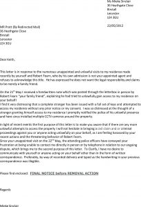 letter to landlords nd letter garage dispute
