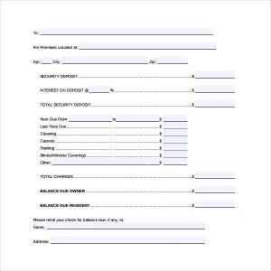 letter to lanlord free download rental deposit form