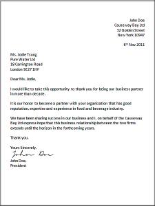 letter writing format business letter format