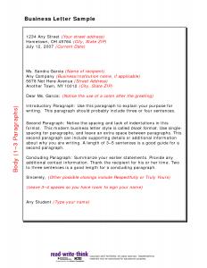 letter writing format friendly business letter sample
