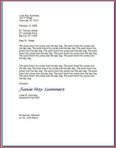 letter writing format type of letter writing formats