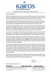 letters for donation kairossa