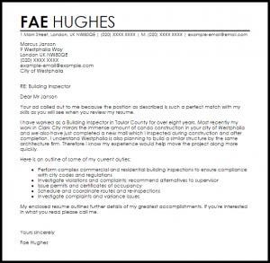letters of complaints samples building inspector