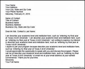 letters of intent for college academic letter of intent template