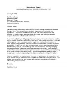 letters of intent for college davidson college cover letter guide