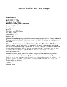 letters of introduction for teachers substitute teacher cover letter example teacher cover letter