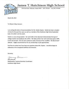 letters of recommendation for a job orig