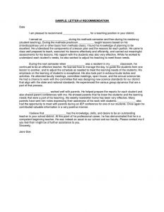 letters of recommendation for a job letter of recommendation for teacher from parent teacher recommendation letter
