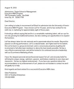 letters of recommendation for college college admission recommendation letter