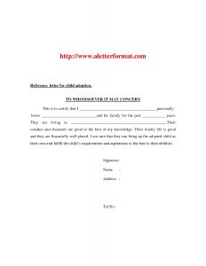 letters of recommendation for friends adoption letter of recommendation recommendation letter