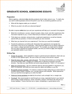 letters of recommendation for grad school high school admission essay samples