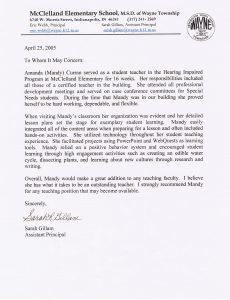 letters of recommendation for student teacher gillamletter