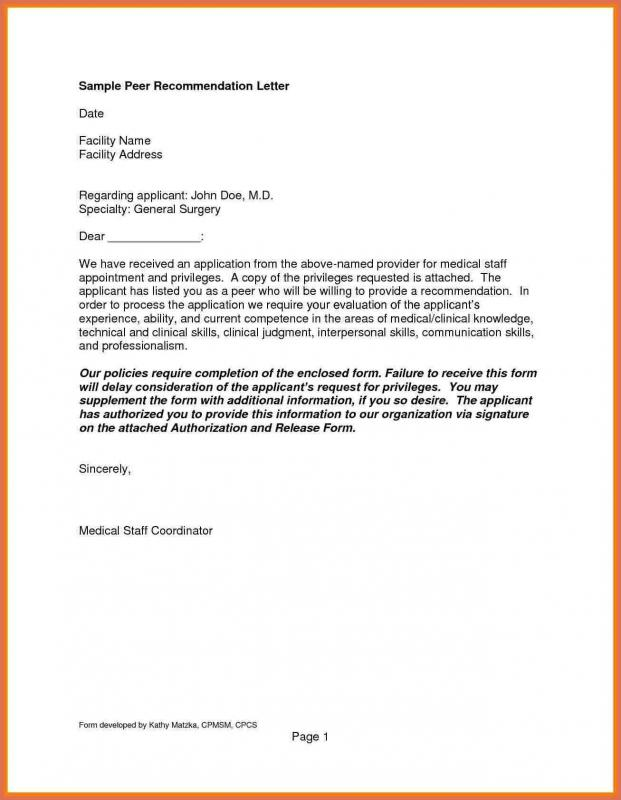 letters of recommendation template