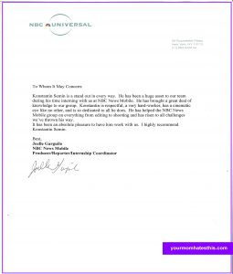 letters of recommendation template letter of recommendation template
