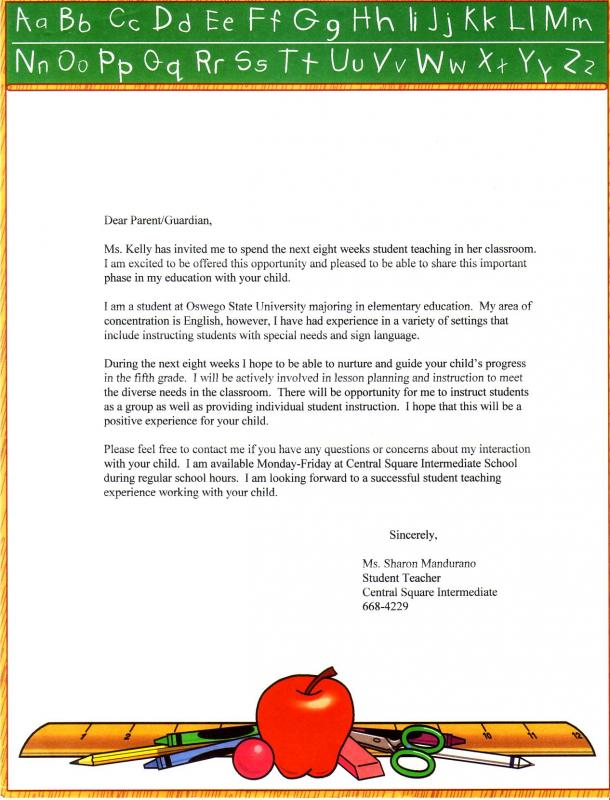 letters of recommendations for student teachers