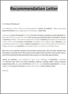 letters of recommendations for student teachers recommendation letter template