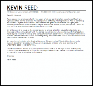 letters of recommendations for student teachers sample cover letter for a principal