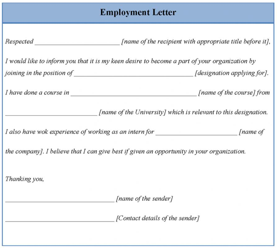 letters of termination of employment