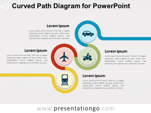 line graphs templates curved path diagram powerpoint