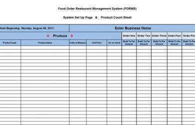 liquor inventory spreadsheet food input sheet