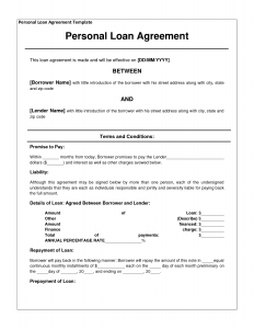 loan contract template template loan agreement dbfnql