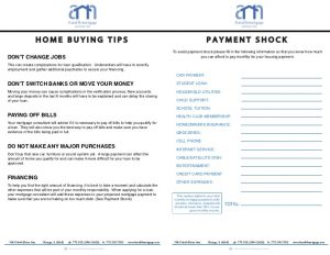 loan document template a and n mortgages home buying packet