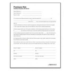 loan document template promissory note template