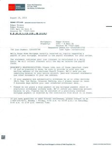loan payoff letter debt payoff letter from wells fargo bank