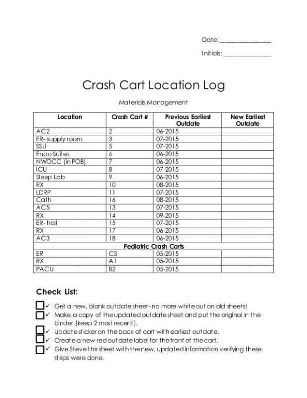 log sheet template