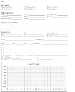 log sheet template log p