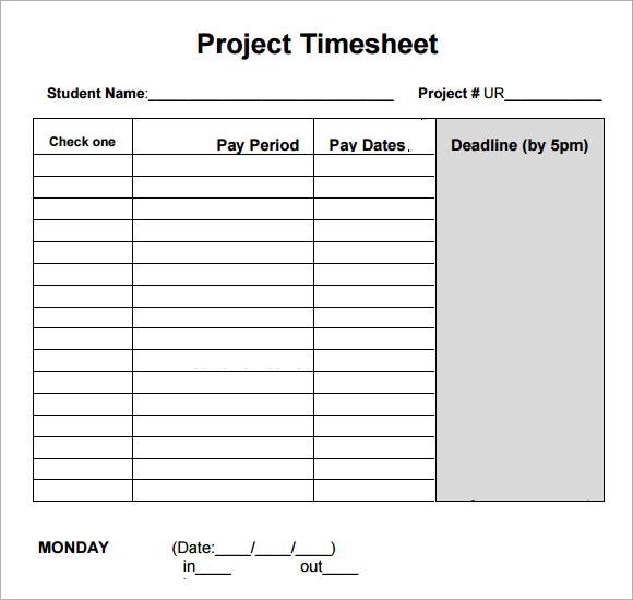 log sheet templates