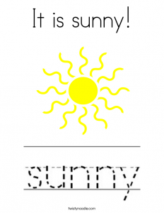 login page template it is sunny coloring page