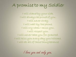 love letter to my future wife a promise to my soldier