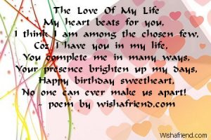love letter to my gf love birthday poems