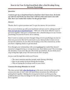 love letter to my gf how to get your ex boyfriend back after a bad breakup using reverse psychology