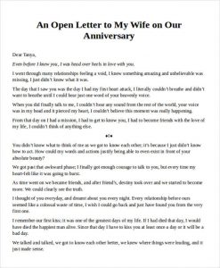love letter to my wife anniversary love letter to my wife