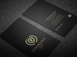 luxury business cards luxurious business card