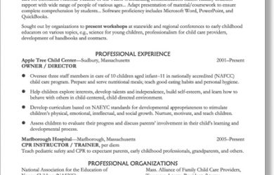 ma resumes examples early childhood education resume samples pertaining to early childhood education resume samples