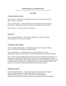 madeline hunter lesson plan example madeline hunter