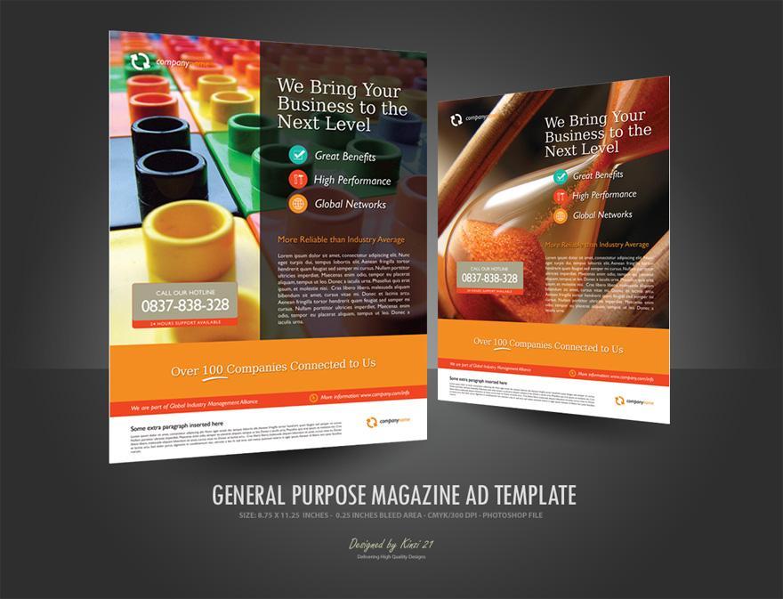 magazine ads template