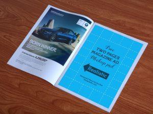 magazine advert templates free high quality magazine ad mockup psd