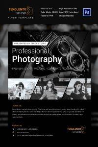 magazine advertisement template model photography flyer