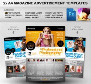 magazine advertisements templates a magazine ad template