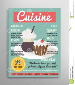 magazine advertising templates magazine cover template food blogging layer culinary cuisine vector illustration