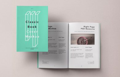 magazine cover templates classic book brand inner pages cover format presentation mockup psd