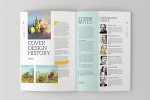 magazine layout template magazine template b