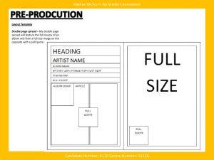 magazine layout template page