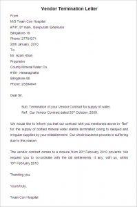 magazine template word sample vendor termination letter download