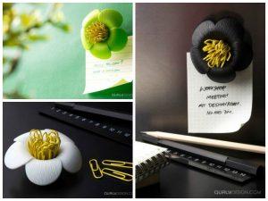 magnetic paperclip holders blossom flower magnetic paper clips holder